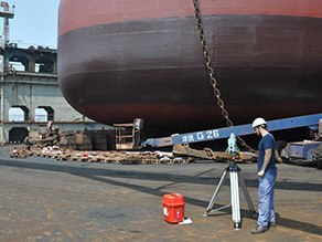 Bulk Carrier Ship Lines Production & Geometrical Inspection of Keel Line